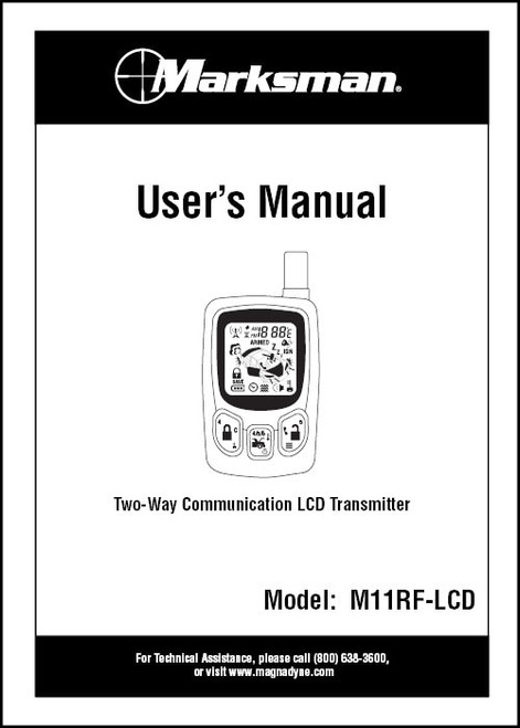 Marksman M11RF-LCD | Installation Manual