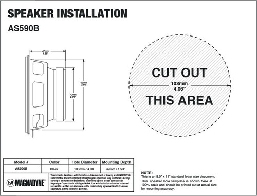 """Magnadyne AS590B 