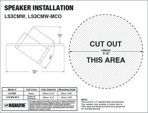"""Magnadyne LS3CMW-MCO 
