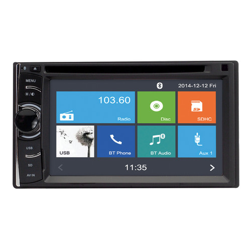 Magnadyne M2 | Touch Screen Multi-Media Receiver with DVD & Bluetooth - Front View