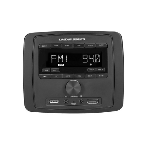Linear Series RV3000 AM/FM/USB/AUX/BT Deckless Wall Mount Receiver - Front View