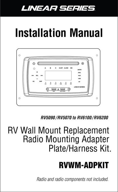 Linear Series RVWM-ADPKIT RV Wall Mount Replacement