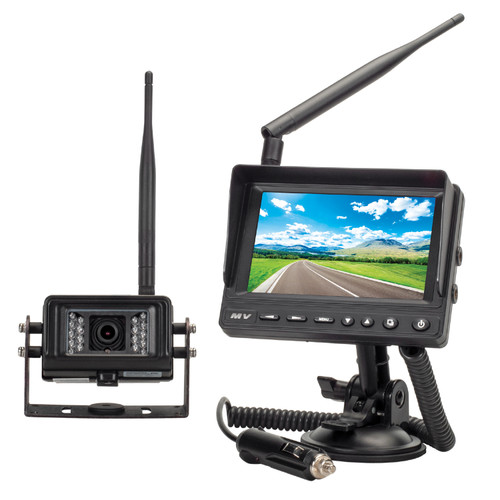 """MobileVision MV-BC1 2.4Ghz Wireless Waterproof Camera and 5"""" Portable 2 Camera Input Monitor System"""