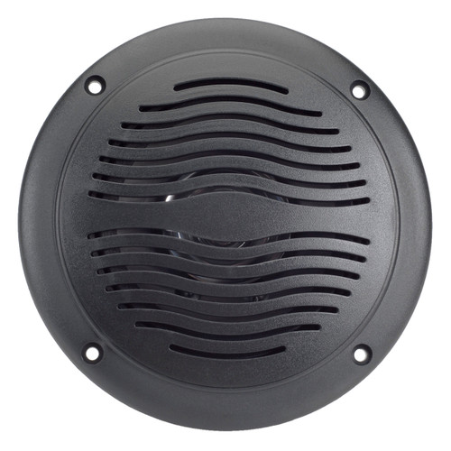 "AquaVibe WR42B | Marine Waterproof 5"" Dual Cone Speaker (Black) - Front View"