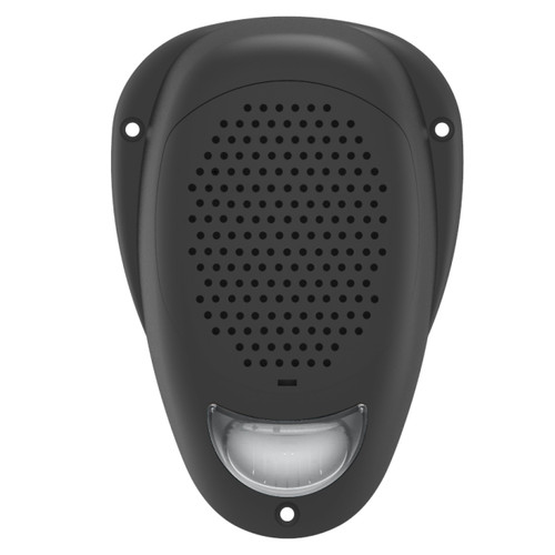 "Linear Series LS2-WHITE | Water Resistant 3"" Surface Mount Satellite Speaker with White LED Lighting - Front View"