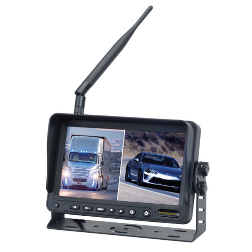"""MobileVision M100-W   2.4GHz Wireless 7"""" Color LCD Monitor -3/4 Full View"""