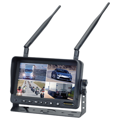 "MobileVision M100-W | 2.4GHz Wireless 7"" Color LCD Monitor - 3/4 View"