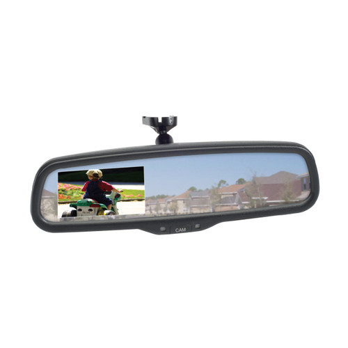 Magnadyne M37 | Rear View Mirror with Built-in Monitor - 3/4 View