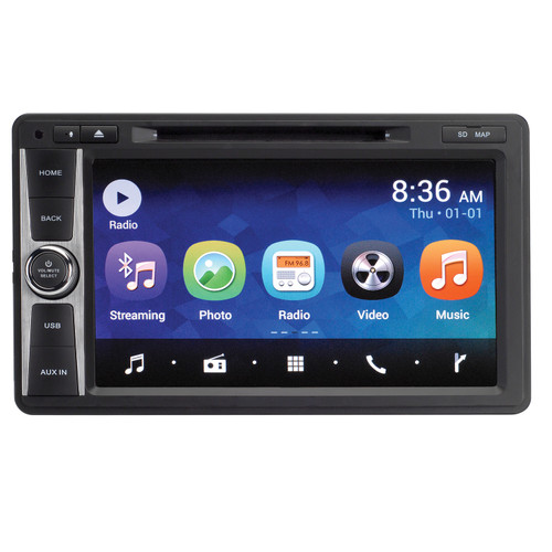 Magnadyne M11/ M11-NAV | Android 6.0 Multi-Media Receiver with Carplay, DVD, Bluetooth and Wi-Fi Internet Capability - Front View