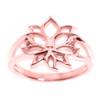 Rose Gold Lotus Blossom Flower Ladies Ring