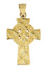 Gold Celtic Cross Pendant - The Traditional Yellow Gold Ancient Celtic Cross