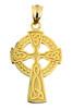 Yellow Gold Celtic Cross Charm Pendant