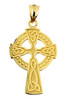 Yellow Gold Celtic Trinity Cross Pendant