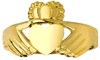 Gold Claddagh Ring - The Irish Pure Heart for Ladies