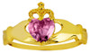 Gold Birthstone Claddagh Ring - The Alexandrite