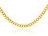 Gold Chains and Necklaces - Cuban Gold Chain 0.6 mm