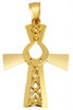 Gold Trinity Cross With Claddagh Pendant from CladdaghGold.com - image