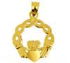Classic Gold Claddagh Pendant