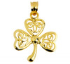 Celtic Pendant - The Gold Irish Clover from CladdaghGold.com