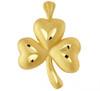 Gold Irish  Clover Pendant