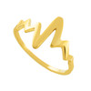 Dainty Gold Heartbeat Ring