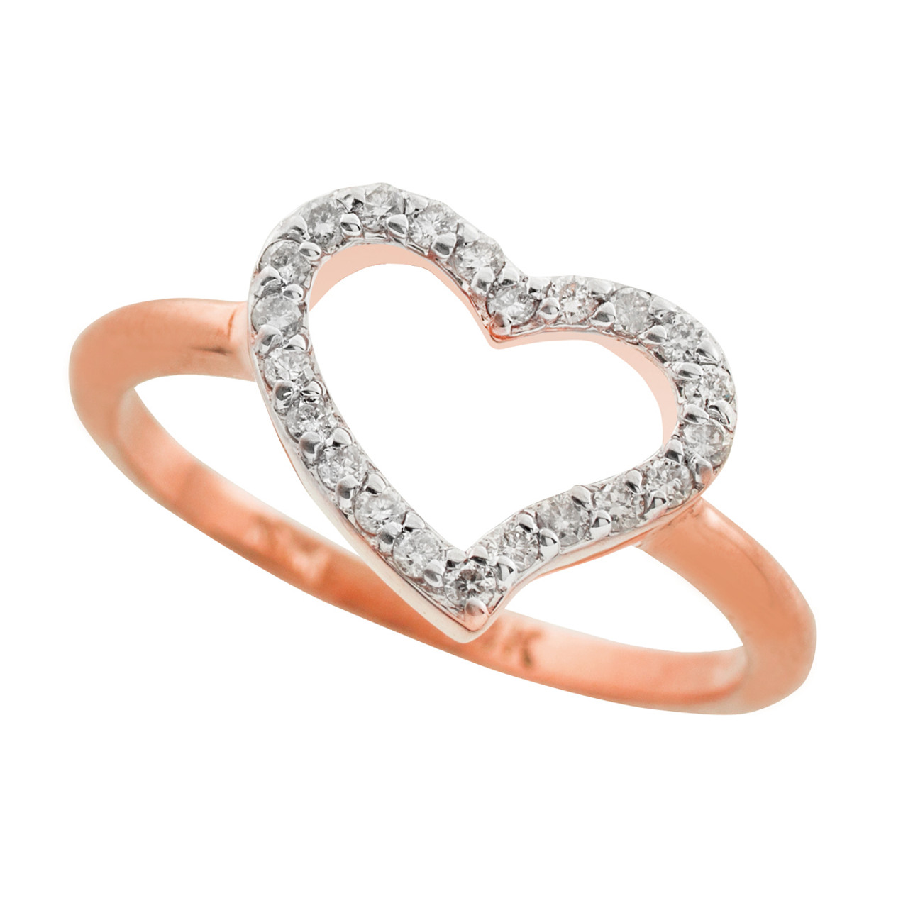 744ac6a3a5 Rose Gold CZ Heart Ring | Heart Rings