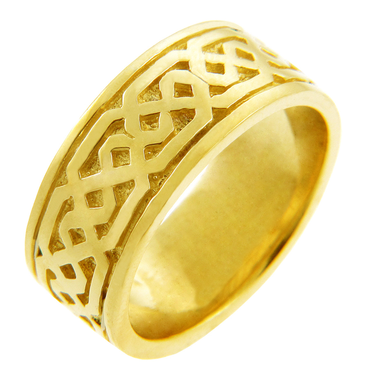 Women S Celtic Band Yellow Gold Celtic Knot Ring