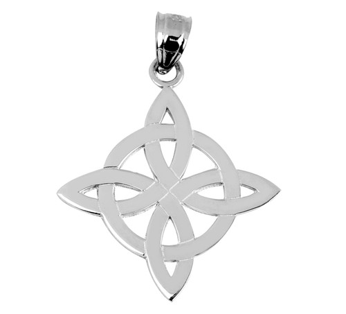 White Gold Celtic Inspired Pendant from CladdaghGold.com - image