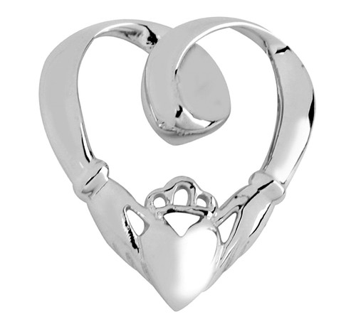 White Gold Claddagh Slide Pendant from CladdaghGold.com - image