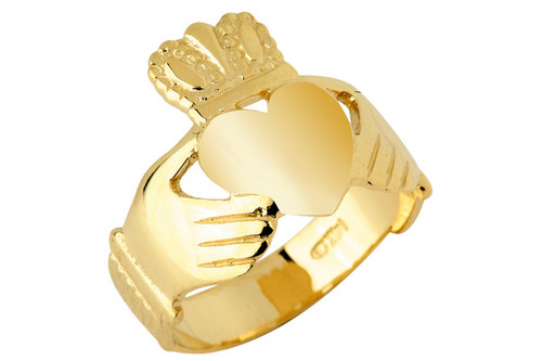 14K Gold Claddagh Ring Traditional