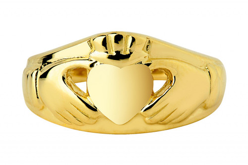 14K Gold Claddagh Ring Classic