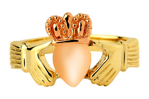 Gold Two-Tone Claddagh Ring