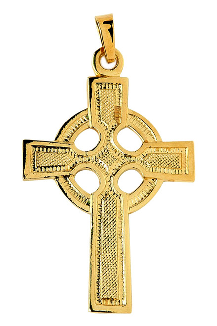 Gold Celtic Pendant Cross