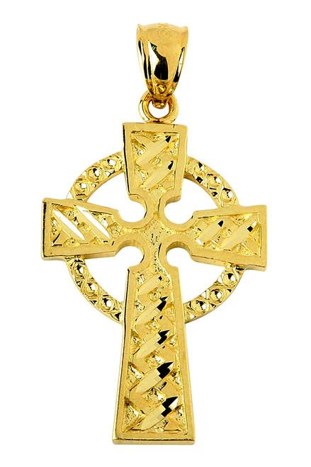 Yellow Gold Pendant Celtic Cross