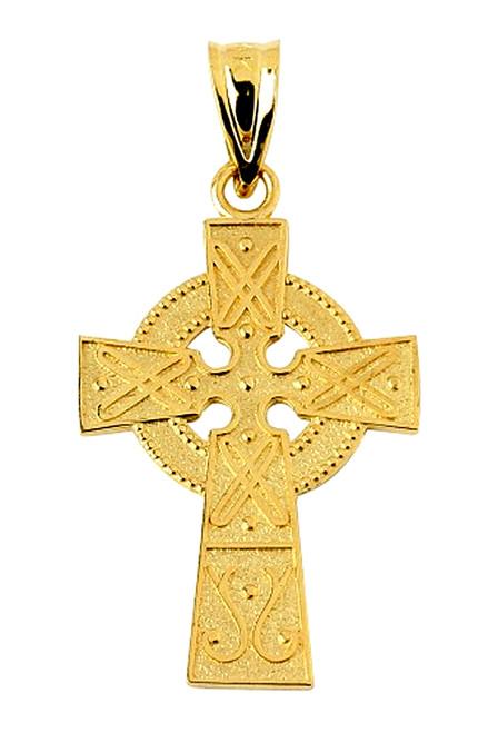 Yellow Gold Gaelic Cross Pendant