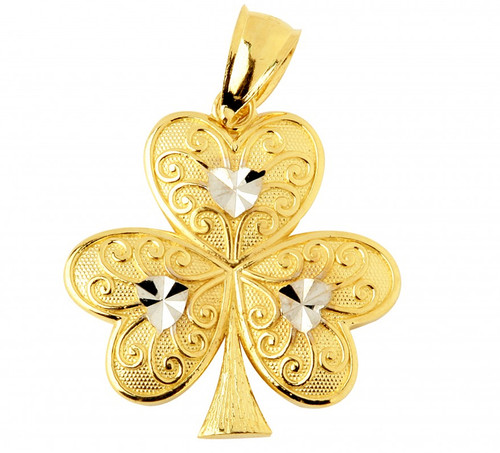 Gold Celtic Pendant - The Irish Clover