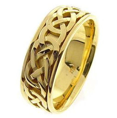 Celtic Knot Wedding Band - 14K Gold Purity Ring