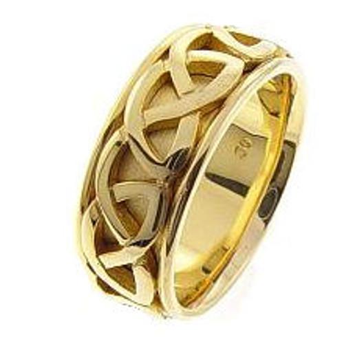 Celtic Knot Wedding Band - 14K Gold Weave Ring