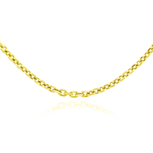 Gold Chains: Rolo Cable Yellow Gold Chain 1.38mm