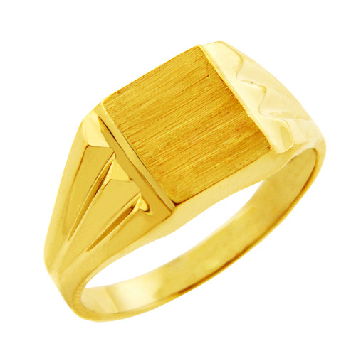 Men S Gold Signet Rings The Frank Solid Gold Signet Ring
