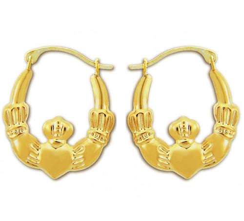 Claddagh Hoop Earring