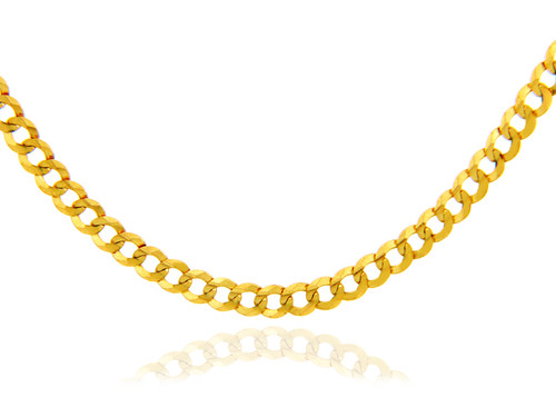 Gold Chains and Necklaces - Cuban Gold Chain 0.5 mm