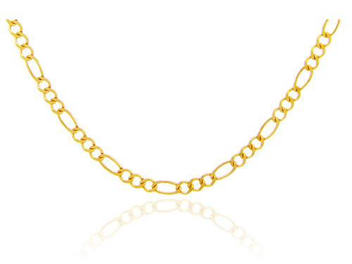 Gold Chains and Necklaces - Figaro Gold Chain 1.0 mm