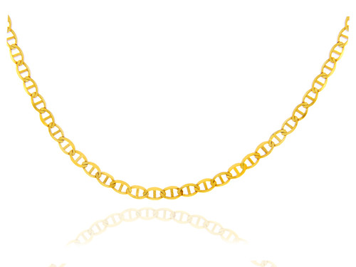 Gold Chains and Necklaces - Flat Mariner Gold Chain 0.5 mm