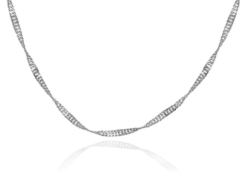Singapore White Gold Chain 0.2 mm