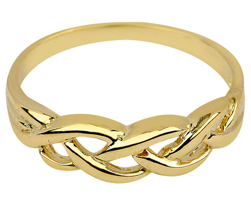Gold Celtic Trinity Weave Ring from CladdaghGold.com - image