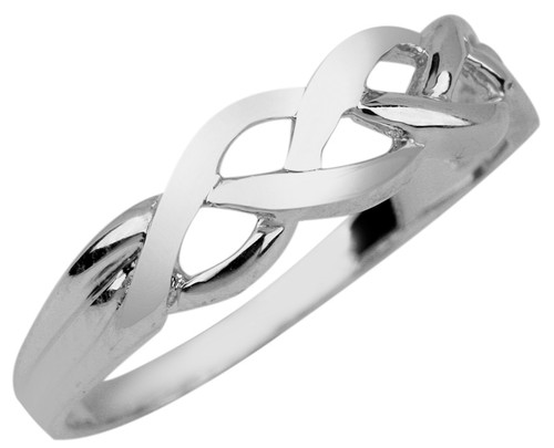 White Gold Celtic Trinity Weave Ring from CladdaghGold.com - image