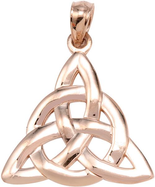 Rose Gold Trinity Knot Pendant