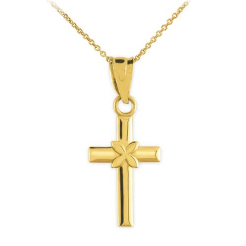 Gold Four Leaf Clover Charm Pendant Necklace