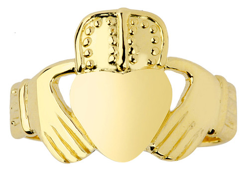 Gold Classic Mens Claddagh Ring